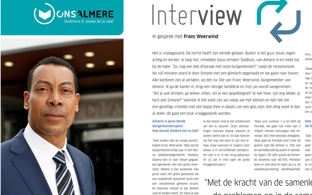 ONS ALMERE – FRANC WEERWIND